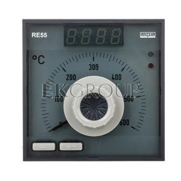 Regulator analogowy nastawa Fe-CuNi 0-600st.C regulator PID konfigurowane wyjście przekaźnikowe bez atestu KJ RE55 0931000-13455