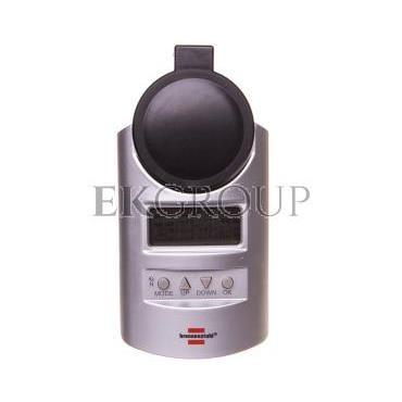 Programator / sterownik czasowy elektroniczny (gniazdo) 16A 3680W tygodniowy Primera Line DT IP44 1507491-143632