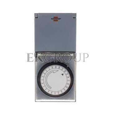 Programator / sterownik czasowy mechaniczny (gniazdo) 16A 2P Z dobowy MZ 44 IP44 1506464-143635