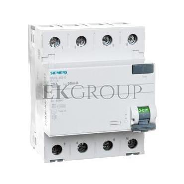 Wyłącznik różnicowoprądowy 4P 25A 0,03A typ AC 5SV4342-0-137879