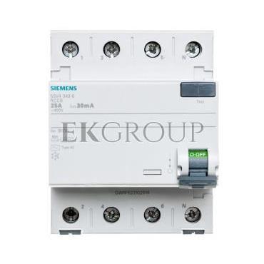 Wyłącznik różnicowoprądowy 4P 25A 0,03A typ AC 5SV4342-0-137880