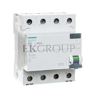 Wyłącznik różnicowoprądowy 4P 63A 0,03A typ AC 5SV4346-0-137883