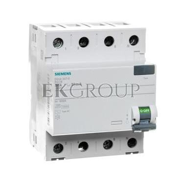 Wyłącznik różnicowoprądowy 4P 80A 0,03A typ AC 5SV4347-0-137885