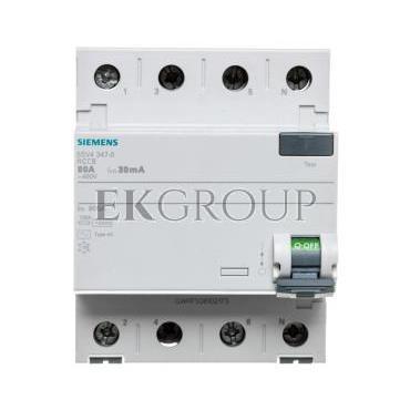Wyłącznik różnicowoprądowy 4P 80A 0,03A typ AC 5SV4347-0-137886