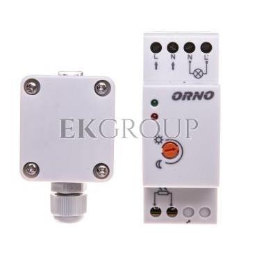 Czujnik zmierzchowy na szynę DIN z zewnętrzną sondą w puszce 3000W 2-100lx IP65/IP20 OR-CR-231-143526