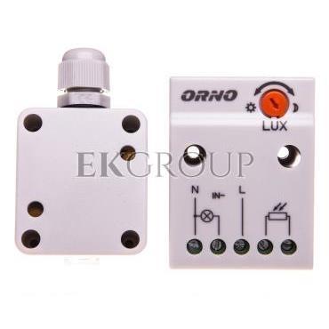 Czujnik zmierzchowy z zewnętrzną sondą w puszce 2300W 2-100lx IP65/IP20 biały OR-CR-232-143528