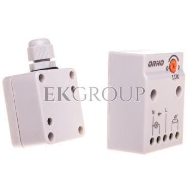 Czujnik zmierzchowy z zewnętrzną sondą w puszce 2300W 2-100lx IP65/IP20 biały OR-CR-232-143529