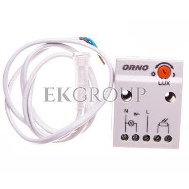 Czujnik zmierzchowy z zewnętrzną sondą 2300W 2-100lx IP65/IP20 biały OR-CR-233-143530