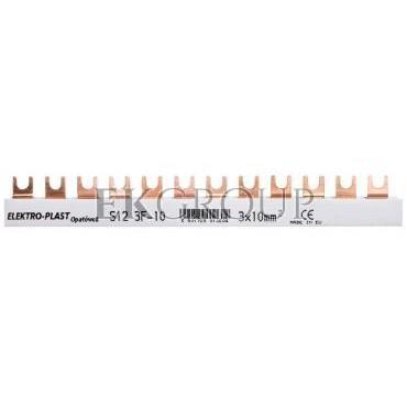 Szyna łączeniowa 3P 63A 10mm2 widełkowa (12mod.) 3F S12 3F-10 45.122-136515