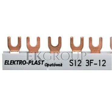 Szyna łączeniowa 3P 63A 12mm2 widełkowa (12mod.) 3F S12 3F-10 45.322-136519
