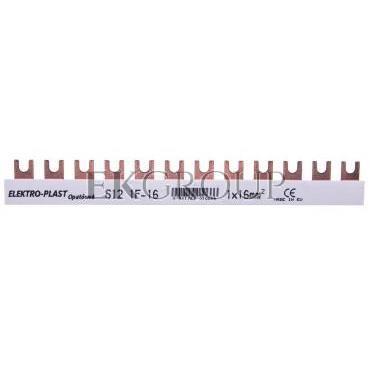 Szyna łączeniowa 1P 80A 16mm2 widełkowa (12 mod.) 1F S12 1F-10 45.121-136521