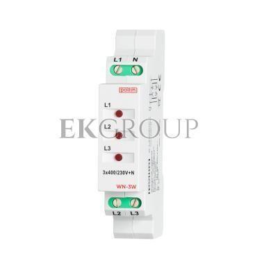 Wskaźnik napięcia LED 3-fazowy 3x400V AC TH35 WN-3W-133585