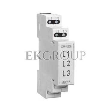 Wskaźnik zasilania 230V AC  LED żółta/zielona/czerwona sieć TN LKM-05-40 EXT10000048-133554