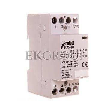 Stycznik modułowy 25A 4Z 0R 230V AC/DC RIK25-40-230 2608213-136051