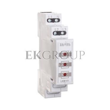 Wskaźnik zasilania 230V/400V 3xLED czerwone TN LKM-01-10 EXT10000036-133543