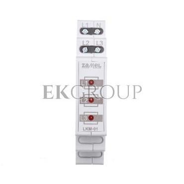 Wskaźnik zasilania 230V/400V 3xLED czerwone TN LKM-01-10 EXT10000036-133544