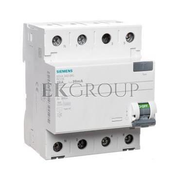 Wyłącznik różnicowoprądowy 4P 25A 0,03A typ AC 5SV4342-0KL-137909
