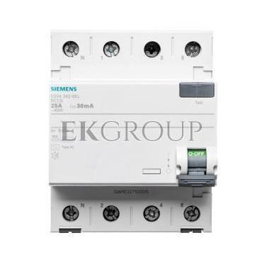 Wyłącznik różnicowoprądowy 4P 25A 0,03A typ AC 5SV4342-0KL-137910