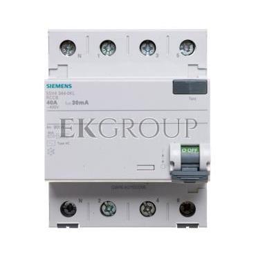 Wyłącznik różnicowoprądowy 4P 40A 0,03A typ AC 5SV4344-0KL-137912