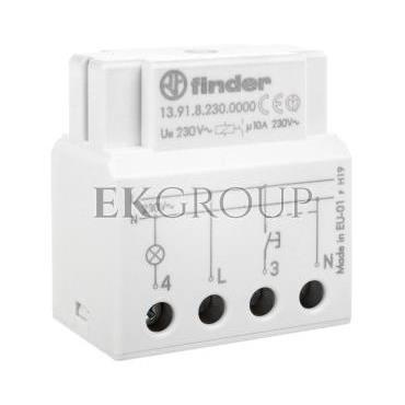 Elektroniczny przekaźnik impulsowy/czasowy 1Z 230V 10A do montażu w puszkę instalacyjną 13.91.8.230.0000-134222