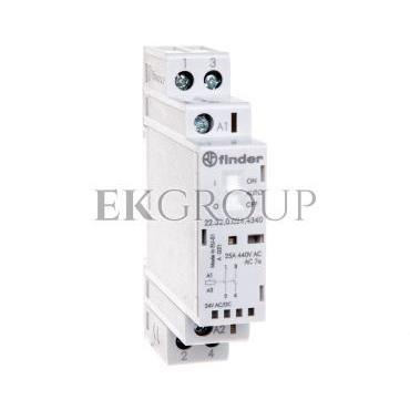 Stycznik modułowy 2Z 25A 24V AC/DC funkcja Auto-On-Off wskaźnik zadziałaniua   LED 17,5mm 22.32.0.024.4340-136067