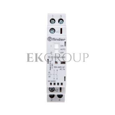 Stycznik modułowy 2Z 25A 24V AC/DC funkcja Auto-On-Off wskaźnik zadziałaniua   LED 17,5mm 22.32.0.024.4340-136068