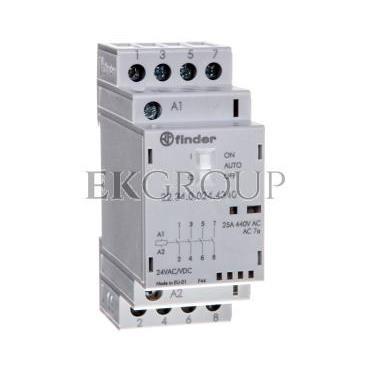 Stycznik modułowy 4Z 25A 24V AC/DC funkcja Auto-On-Off, wskaźnik zadziałania   LED, 35mm 22.34.0.024.4340-136071