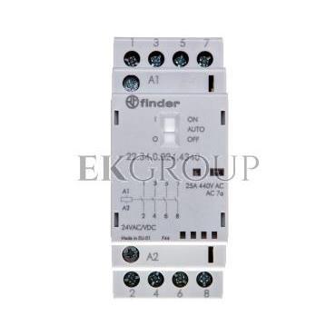 Stycznik modułowy 4Z 25A 24V AC/DC funkcja Auto-On-Off, wskaźnik zadziałania   LED, 35mm 22.34.0.024.4340-136072