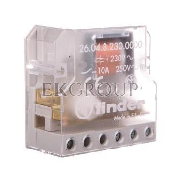 Przekaźnik impulsowy 2Z 10A 230V AC montaż w puszkach instalacyjnych lub obudowach 26.04.8.230.0000-134227