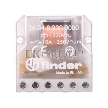 Przekaźnik impulsowy 2Z 10A 230V AC montaż w puszkach instalacyjnych lub obudowach 26.04.8.230.0000-134228
