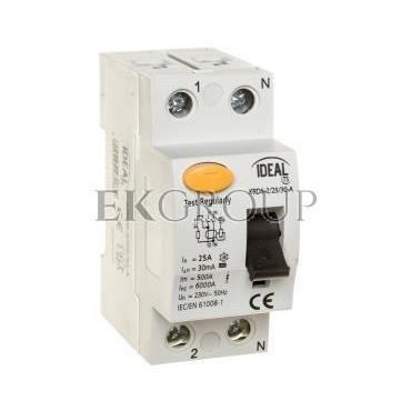 Wyłącznik różnicowoprądowy 2P 25A 0,03A typ A KRD6-2/25/30-A 23188-138003