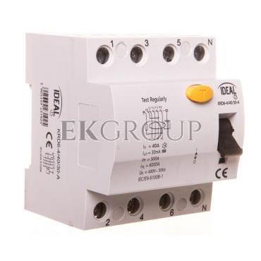 Wyłącznik różnicowoprądowy 4P 40A 0,03A typ A KRD6-4/40/30-A 23192-137975