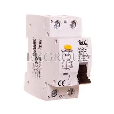 Wyłącznik różnicowo-nadprądowy 2P B 10A 0,03A typ AC KRO6-2/B10/30 23213-142692