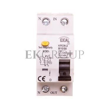 Wyłącznik różnicowo-nadprądowy 2P B 10A 0,03A typ AC KRO6-2/B10/30 23213-142693