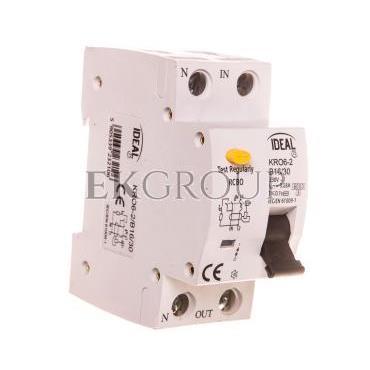Wyłącznik różnicowo-nadprądowy 2P B 16A 0,03A typ AC KRO6-2/B16/30 23210-142696