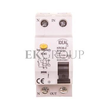 Wyłącznik różnicowo-nadprądowy 2P B 16A 0,03A typ AC KRO6-2/B16/30 23210-142697
