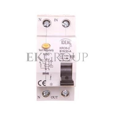 Wyłącznik różnicowo-nadprądowy 2P B 16A 0,03A typ A KRO6-2/B16/30-A 23212-142699