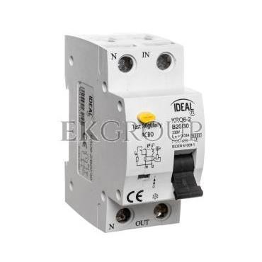 Wyłącznik różnicowo-nadprądowy 2P B 20A 0,03A typ AC KRO6-2/B20/30 23219-142700