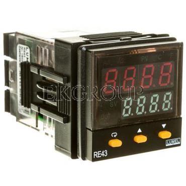Programowalny regulator zasilanie 90-264V AC wejście uniwersalne wyjście 1 przekaźnik 2A wyjście 2/alarm 2 przekaźnikowe alarm 1