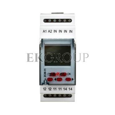 Programator czasowy 16A tygodniowy jednokanałowy ZCM-11 EXT10000150-143593