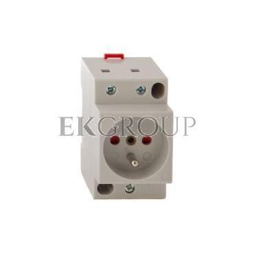 Gniazdo modułowe 2P Z 16A 250V z przesłonami na szynę Z-SD230-BS 266876-133382