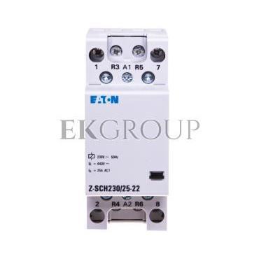 Stycznik modułowy 25A 2Z 2R 230V AC Z-SCH230/25-22 248849-135690