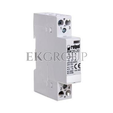 Stycznik modułowy 20A 2Z 0R 24V AC RIK20-20-24 2608178-135789