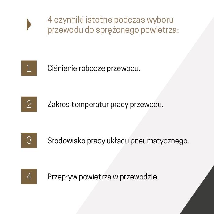 Cztery ważne czynniki podczas wyboru właściwego przewodu pneumatycznego