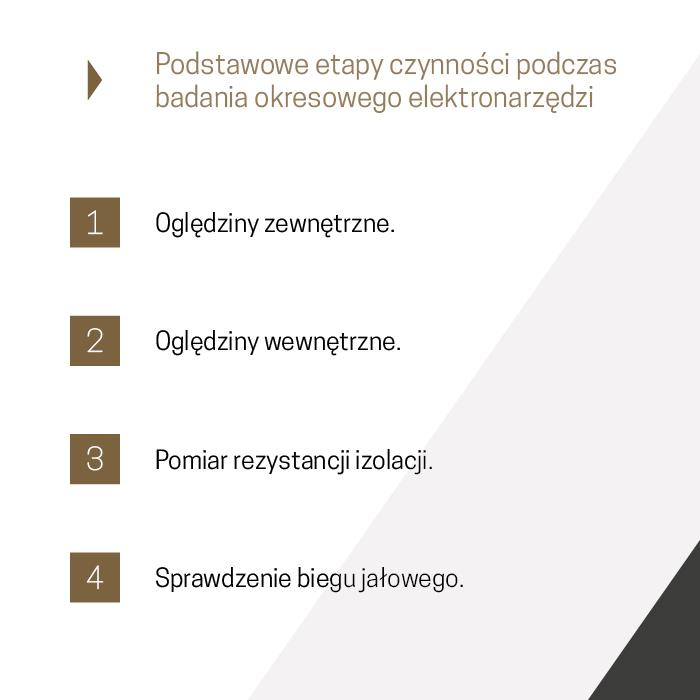 Etapy badań okresowych elektronarzędzi