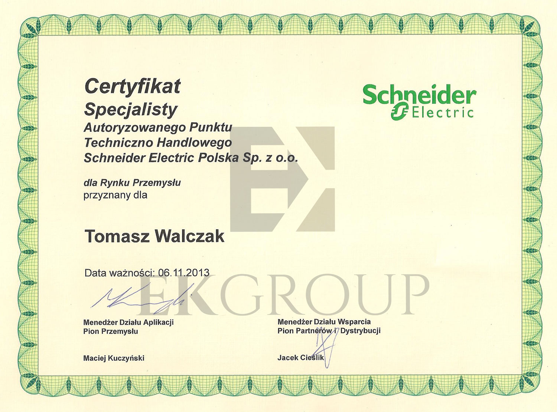 Certyfikat Specjalisty Schneider Electric