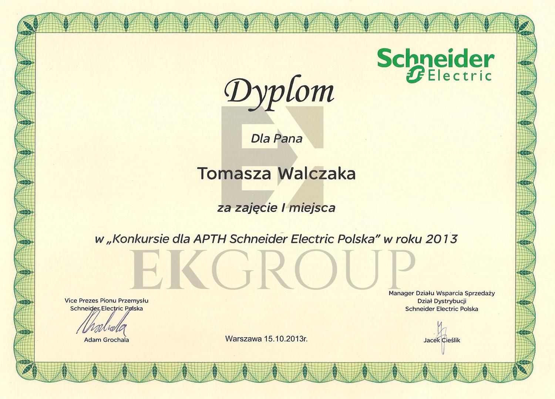 Dyplom Konkursu Schneider Electric